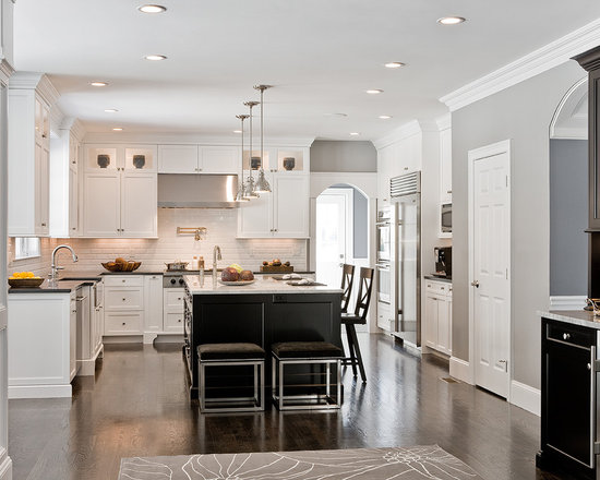 White And Light Grey Kitchen light grey kitchen cabinet | houzz
