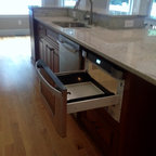 2Y model Coffee Glazed Maple kitchen display - Traditional - Kitchen - San Francisco - by Glenn ...