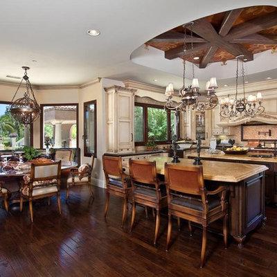 Eat-in kitchen - mediterranean eat-in kitchen idea in Orange County