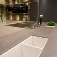 Contemporary Kitchen by Marble and Granite, Inc.
