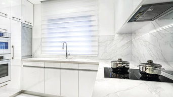 Neolith White Marble Kitchen