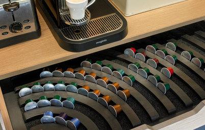 Просто фото: Уголок для завтрака и кофейная станция