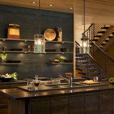 Transitional Kitchen by Carlton Architecture