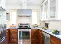 can you tell us about cabinet wood and finish? and countertops? Pretty