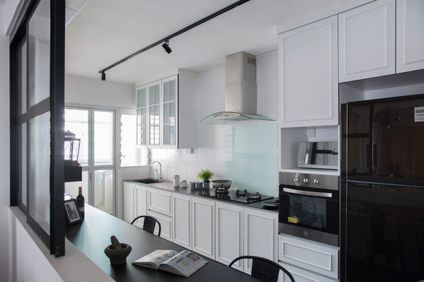 12 design ideas for hdb kitchens houzz for Hdb wet and dry kitchen design