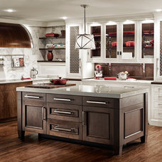 Eclectic Kitchen by Quality Custom Cabinetry, Inc