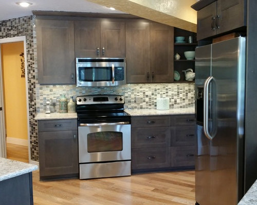 New Cabinets In Maple With Stone Grey Stain
