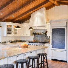 Farmhouse Kitchen by Landmark Construction