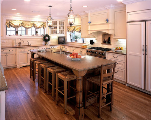 Best narrow island seating design ideas remodel pictures - Narrow kitchen island with seating ...