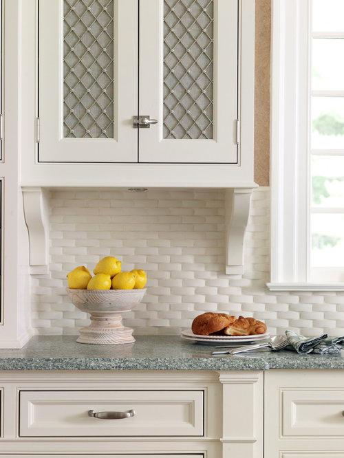 Basketweave Backsplash Houzz - Basket weave tile backsplash