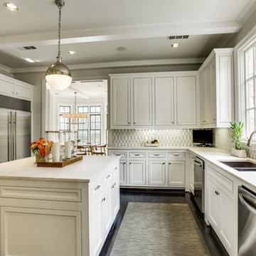New Classic Kitchen with Custom Rialto Backsplash