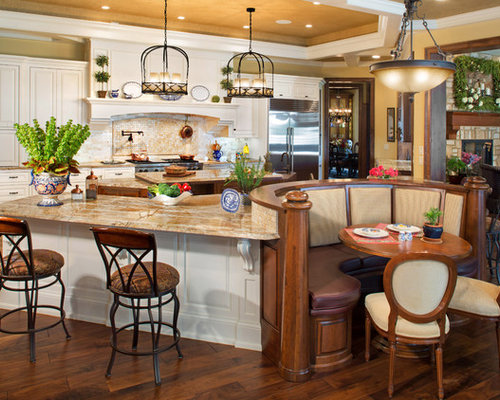Round booth home design ideas pictures remodel and decor for Kitchen island booth