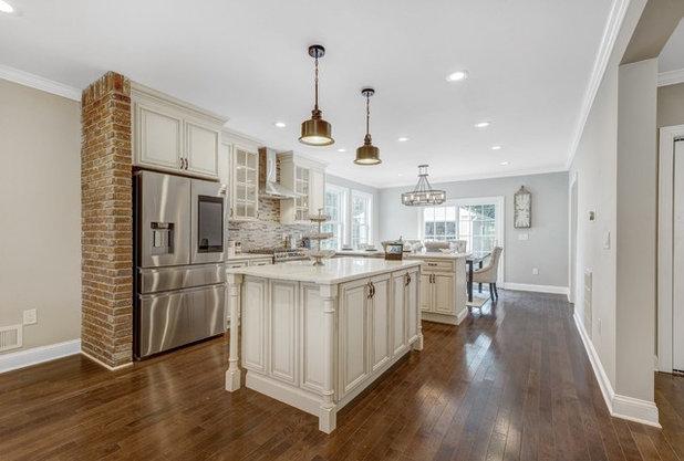Transitional Kitchen by MS Warraich Associates LLC