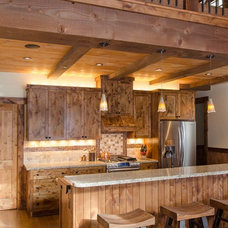 Rustic Kitchen by Tahoe Real Estate Photography
