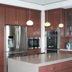 Omega White Kitchen Cabinets - Modern - Kitchen - by MasterBrand Cabinets, Inc.
