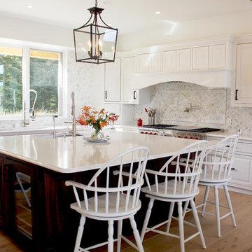 New Construction White Kitchen Quartz Countertop ~ Medina, OH