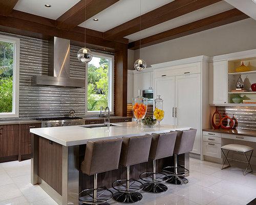 Modern pendant light kitchen design ideas renovations for Brammer kitchen cabinets