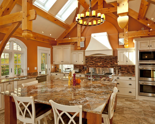 Tan brown granite countertops home design ideas pictures remodel and decor - Kitchen design portland maine ...