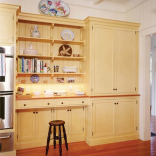 New England Arts and Crafts Kitchen; Desk and Pantry