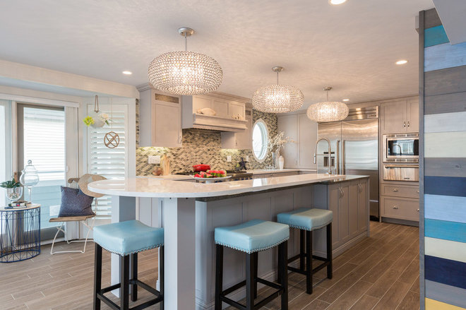 Beach Style Kitchen by New England Design Elements