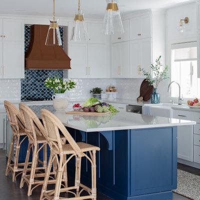 Kitchen - coastal kitchen idea in Other