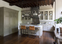 What is the color of the large cabinet on the left? Beautiful!