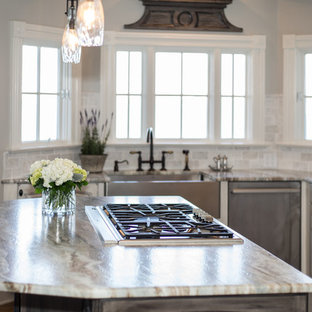 New England Style Lake Front Kitchen
