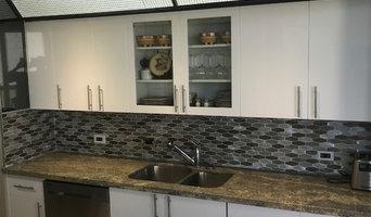 New flat panel, white gloss doors