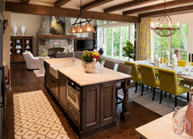 Dining room fixture? Such a beautiful space.