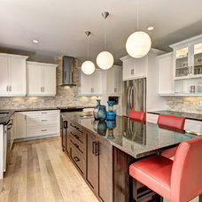 Contemporary Kitchen by Laura Boisvert Designs