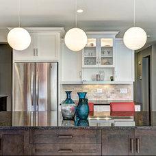Contemporary Kitchen by Laura Boisvert Designs