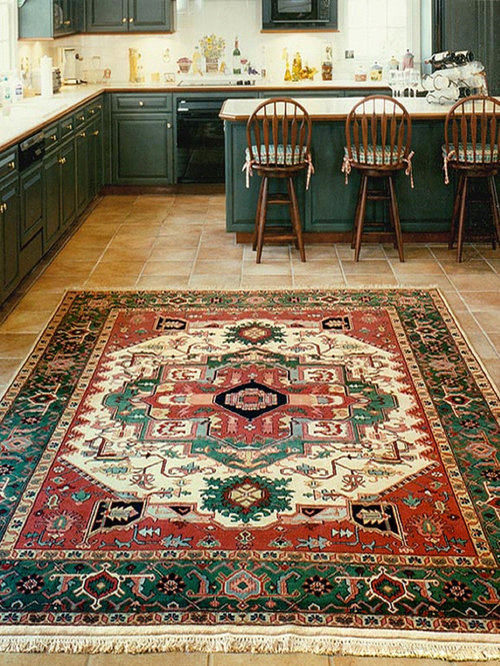 Large oriental rugs kitchen design ideas renovations photos for Traditional kitchen rugs