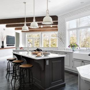 Kitchen remodeling - Kitchen photo in New York