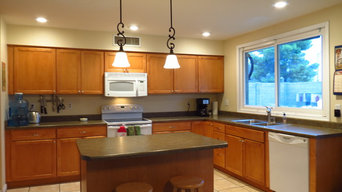 New kitchen Can Lights and Pendant Lights installed by Wiring Pros