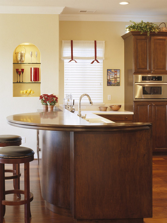 curved breakfast counter | houzz