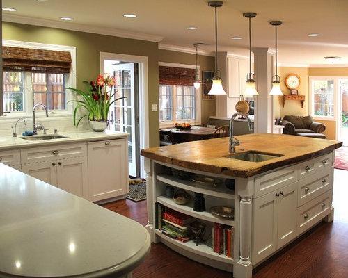Zebra Wood Island Home Design Ideas Renovations Photos