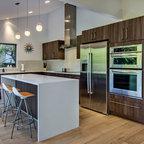 Glass Tile Kitchen Backsplash Midcentury Kitchen San Francisco By Bill Fry Construction