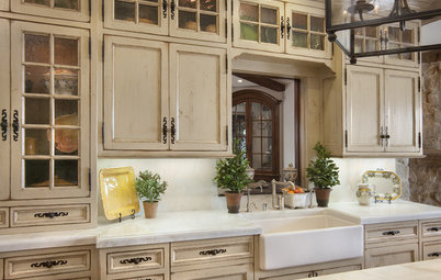 Stress Less With Distressed Cabinets