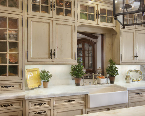 Inspiration For A Victorian Kitchen Remodel In San Diego With Recessed Panel Cabinets A