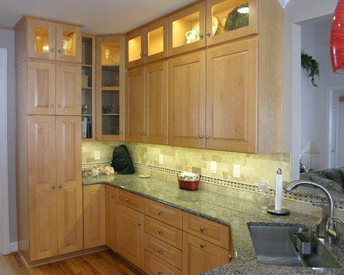 Stacked Upper Cabinets Houzz