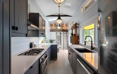 29 Space-Saving Galley Kitchen Designs From Around the Globe