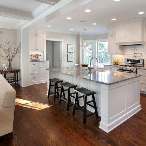 Houzz Kitchen Backsplash Tile: White Subway Tile Backsplash