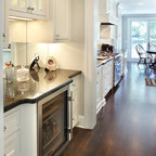 Canton Kitchen Cabinet Makeover: From Maple to Off White finish - Traditional - Kitchen ...