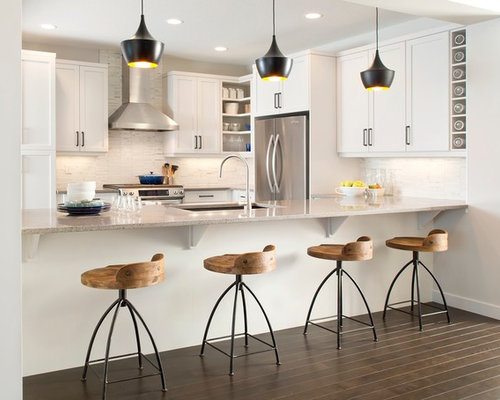 inspiration for a kitchen remodel in edmonton with shaker cabinets and stainless steel appliances