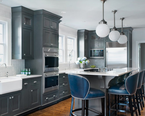 Dark Gray Cabinet Home Design Ideas, Pictures, Remodel And