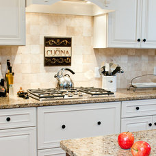 Traditional Kitchen New Venetian Gold Granite Countertops