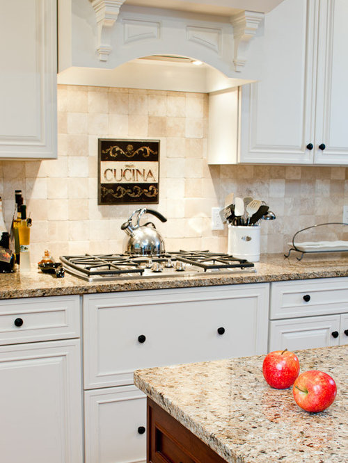Neutral Tile Backsplash Home Design Ideas Pictures