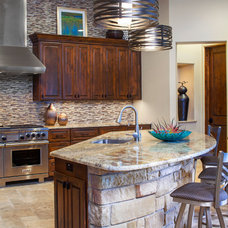 transitional kitchen by Dawn Hearn Interior Design