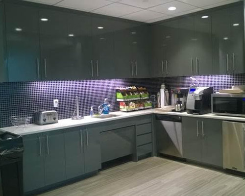 Office break room kitchen design ideas remodel pictures for Houzz corporate office