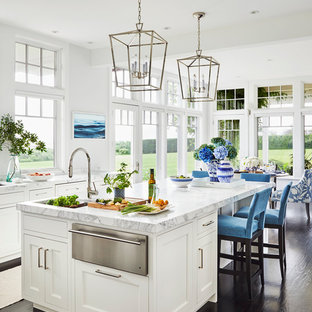 Beach Style Kitchen Designs Coastal Dark Wood Floor And Brown Photo In Providence